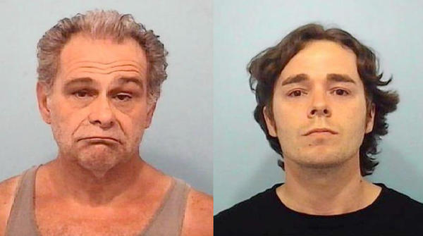 Gregory F. Accardi (left) and Matthew J. Fenton have been charged with unlawful production of cannabis sativa plants and unlawful possession of cannabis with intent to deliver.