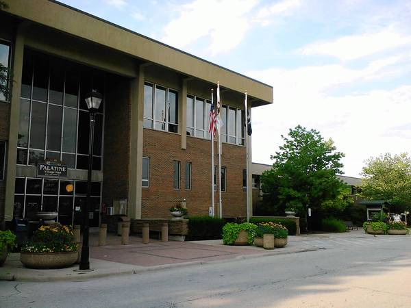 Palatine village hall is next to the Palatine Park District headquarters.