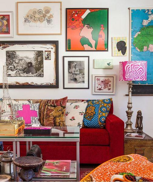 Art and mementos from her travels grace Paula Smail's home in Burbank.
