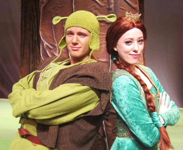 "Mel Nash and Savannah Rucks star in the Orlando Repertory Theatre Youth Academy production of ""Shrek the Musical."""