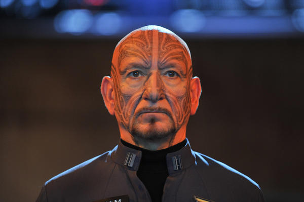 "Ben Kingsley plays Mazer Rackham in ""Ender's Game."""