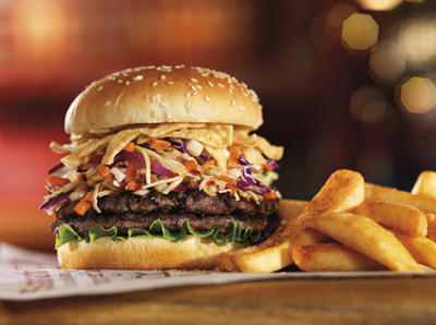 Kuzuri Style Tavern Double is one of two new burgers introduced by Red Robin for the premiere of Twentieth Century's new blockbuster, The Wolverine.