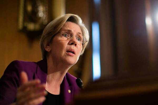 "Sen. Elizabeth Warren (D-Mass.) said: ""If you want to get out there and take risks, go and do it. But what you can't do is you can't get access to FDIC-insured deposits when you do."""