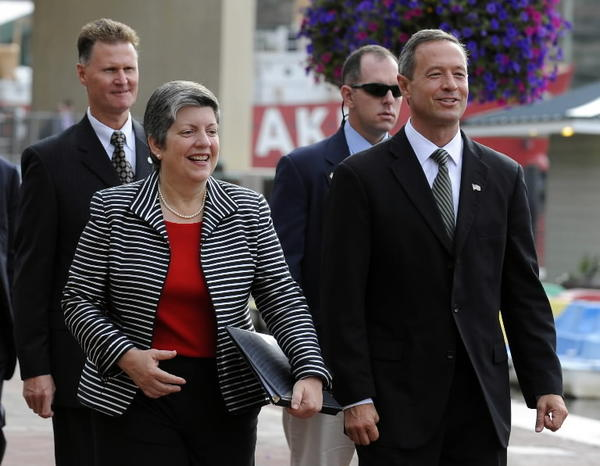 Gov. Martin O'Malley joined Homeland Security Secretary Janet Napolitano in 2009 when she visited Baltimore to announce federal stimulus grants for the port and other facilities.