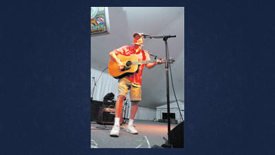Festivities at this years Somerfest started with music as local favorite Randy Myers performed in the big tent at Laurel Arts in Somerset. The event runs through Sunday.