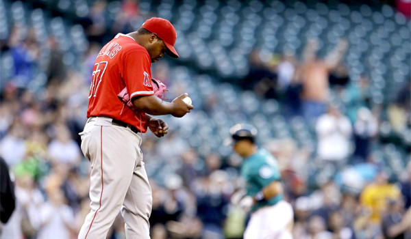 Jerome Williams (5-5) gave up six earned runs on seven hits with two home runs in a start against the Seattle Mariners that lasted just 3 1/3 innings on Friday.