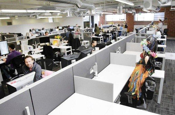 creative office environments. Demand Media\u0027s New Digs In Santa Monica Offer Workers A More Open And Collaborative Environment. Creative Office Environments T