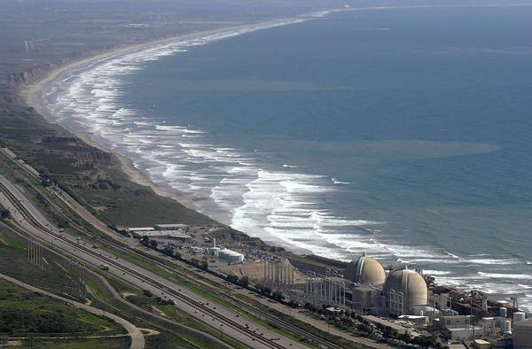 Aerial view of the San Onofre Nuclear Generating Station in the northwestern corner of San Diego County. Problems with replacement steam generators led to the plant's permanent shutdown.