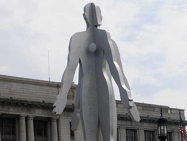 Male/Female statue