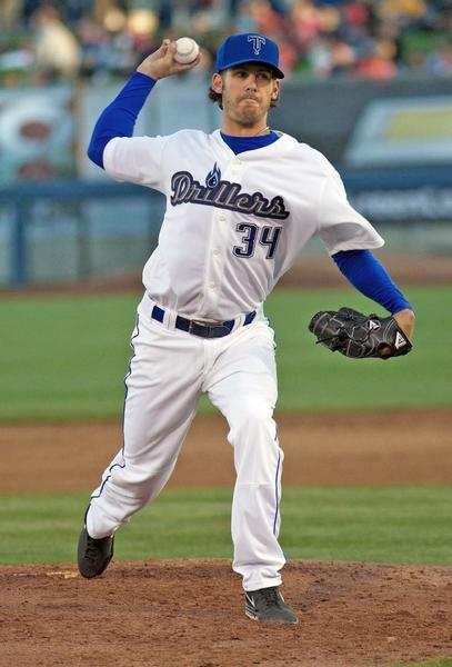 ARCHIVE PHOTO: St. Francis High graduate Christian Bergman has two of his last three starts for the Tulsa Drillers.