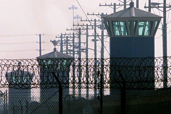 Inmate advocacy groups and family members held a rally Saturday outside the gates of California State Prison at Corcoran, which is seen in 2000.