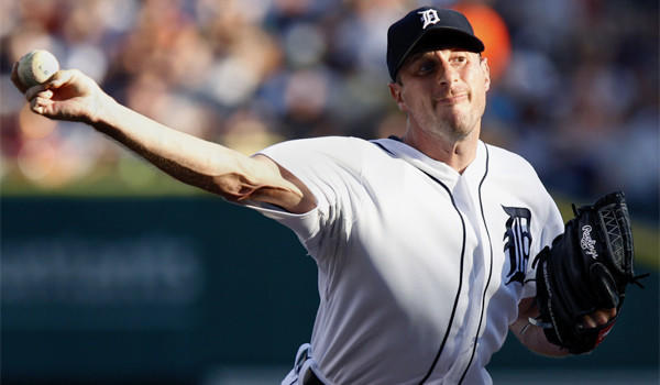 Detroit pitcher Max Scherzer was denied in his bid to become the first pitcher in the majors to start his career 14-0 since Roger Clemens in 1986.