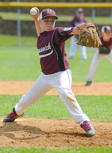 Brunswick's Trevor Barnhouse pitches against Elkton on Saturday in an opening-round game at the Maryland 10-11 State Little League Baseball Tournament in Williamsport.