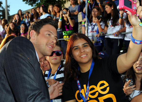 "Cory Monteith arrives at the premiere of Twentieth Century Fox's ""Glee The 3D Concert Movie"" held at the Regency Village Theater on August 6, 2011 in Westwood, California."