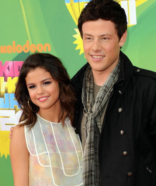 Actress/singer Selena Gomez and actor Cory Monteith arrive at Nickelodeon's 24th Annual Kids' Choice Awards at Galen Center on April 2, 2011 in Los Angeles, California.