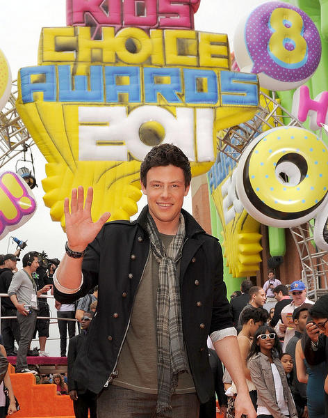 Cory Monteith arrives at Nickelodeon's 24th Annual Kids' Choice Awards at Galen Center on April 2, 2011 in Los Angeles, California.