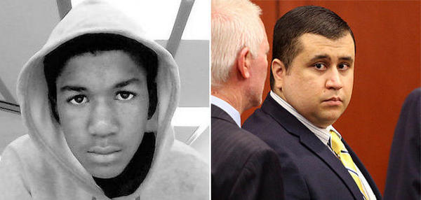 Trayvon Martin, left, was shot to death in 2012 by George Zimmerman; a jury has found Zimmerman not guilty of second-degree murder.