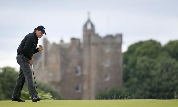 Phil Mickelson at the Scottish Open