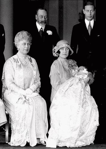 Princess Elizabeth, later to be Queen Elizabeth II, was not the heir apparent on her christening day in 1926. In fact, her birth didn't rate a mention in the Los Angeles Times. At the time, her father Albert, pictured at the far right, was the Duke of York. Only after his father, King George V, above left, died and Prince Albert's brother abdicated the throne in 1936 in order to marry the twice-divorced American Wallis Simpson, did Elizabeth became second in line for the throne. The future queen is in the arms of her mother, Elizabeth, who is seated next to her mother-in-law, Queen Mary.