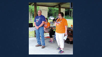 Stoystown resident and cancer survivor Carmen Perigo was introduced, at the Windber Relay For Life by Relay committee member Ronda McGee, as this year's guest speaker.