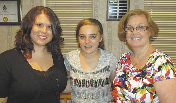 From left, Kim Sariano, Big Brothers Big Sisters of Washington County caseworker; Little Sister Samantha Stanton; and Big Sister Mary Rogers.