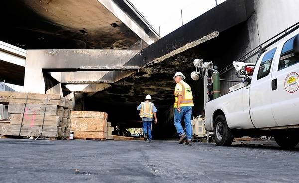 Freeway repairs continue
