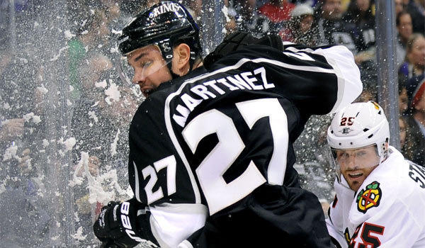 Alec Martinez played in 27 games for the Kings last season, with a goal, four assists and 10 penalty minutes.