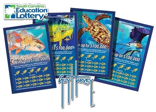 Wildlife artist Guy Harvey's new South Carolina Education Lottery tickets go on sale July 16 for $5 apiece.