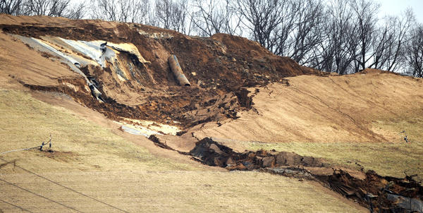 The Chrin Landfill after a March trash landslide.