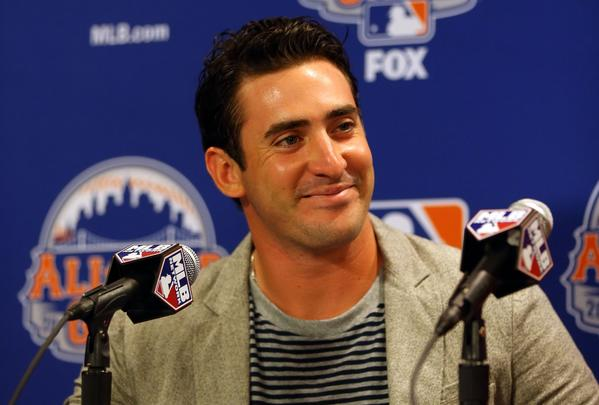 National League All-Star starting pitcher, Matt Harvey of the New York Mets, speaks to the media during a press conference prior to Gatorade All-Star Workout Day on July 15, 2013 at Citi Field.