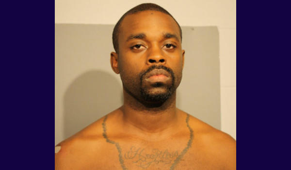 Narvarro Phillips, 28, tried to evade officers by discarding his shirt, police say.