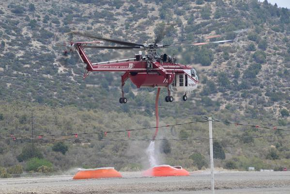 With the Carpenter 1 fire 70% contained, only seven helicopters remained assigned to the blaze in the mountains northwest of Las Vegas.