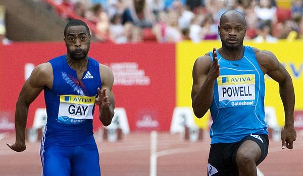 U.S. sprinter Tyson Gay, left, and Jamaica's Asafa Powell confirmed Sunday they have tested positive for banned substances.