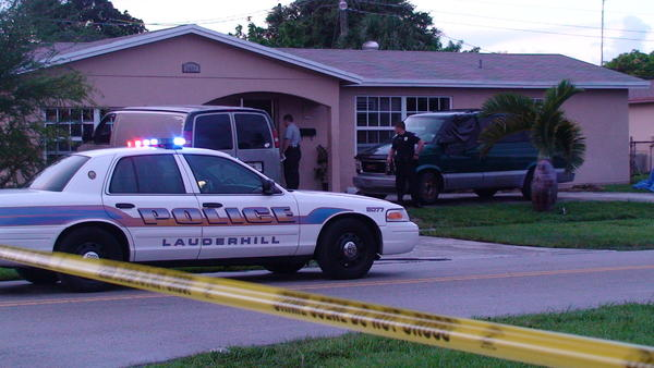 A one-year-old Lauderhill boy was in extreme critical condition after falling in the family pool, police said.