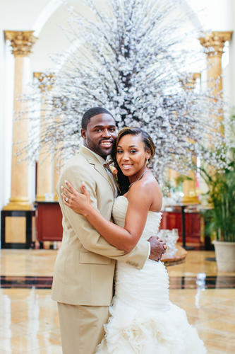 Photo from the July 2013 wedding of Torrey Smith and Chanel Williams.