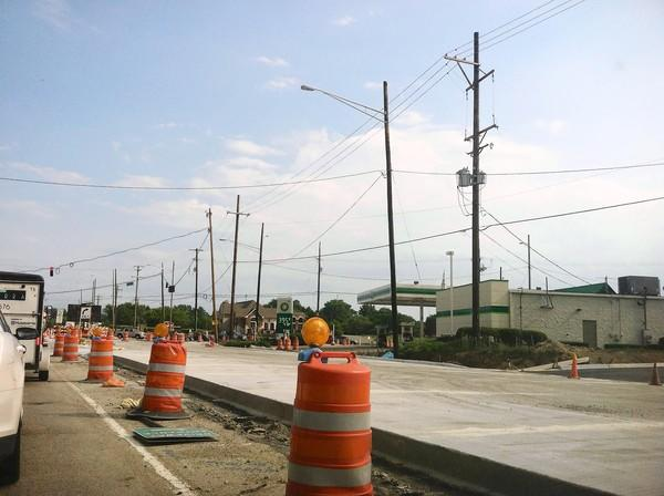 Construction on Milwaukee Avenue in Libertyville has forced vehicles to use just two lanes while crews work to expand the roadway.