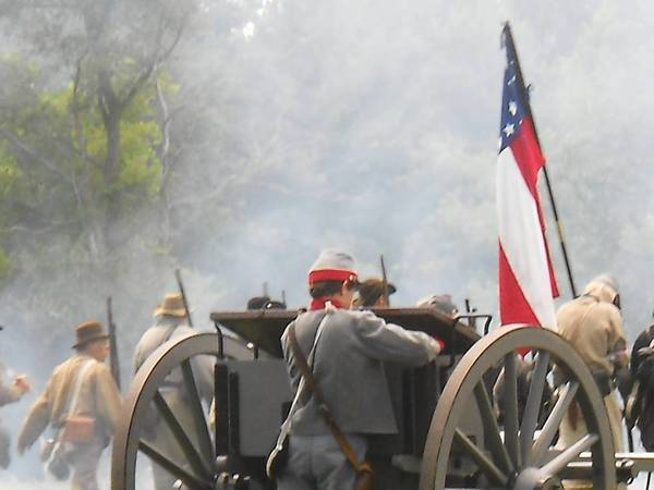 The recent Civil War Days event in Lake County included a narrated battle featuring artillery, cavalry and infantry re-enactors.