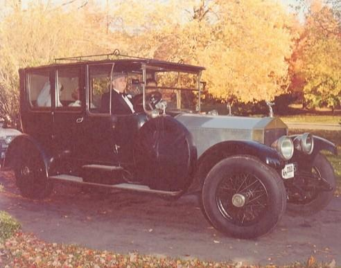 Mac Thrall, John Thrall's father, drove the 1925 Rolls Royce on his son's wedding day.