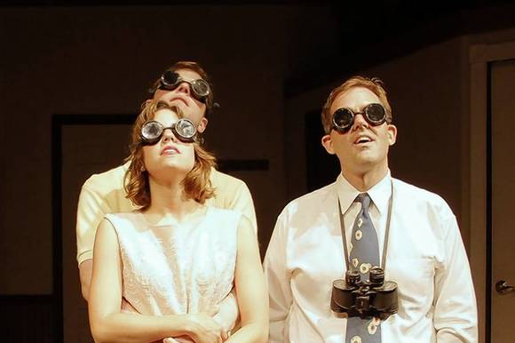 "Sam Kurzydlo, Ellie Reed, Morgan Maher and Ed Dzialo in Jackalope Theatre Company's ""The Casuals."""