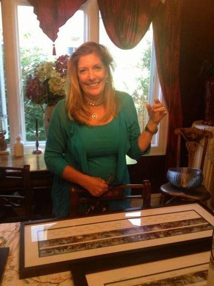 Mary Vostal, an Oak Park graphic designer, has been piecing together panoramas of the village's historic homes.