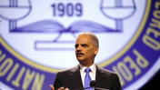 Eric Holder speaks about Zimmerman trial at NAACP convention