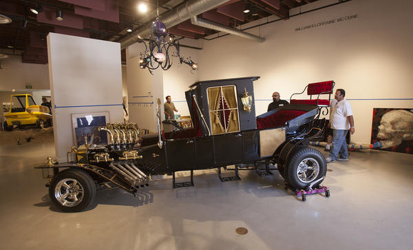 "The ""Munster Koach"", the family car used in the television series the Munsters, will be on display as part of the show Kustom Kulture II at the Huntington Beach Art Center. Photo taken on Friday, July 12, 2013. (Scott Smeltzer, Huntington Beach Independent)"