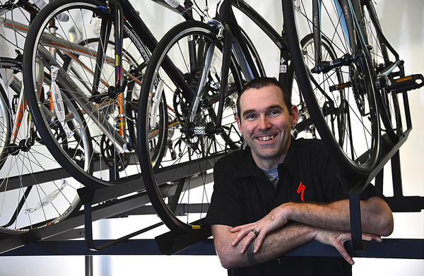 Jamie Boward is co-owner of Mercury Endurance Cycles at 222 E. Oak Ridge Drive, Suite 1225, in Hagerstown. The shop, which opened April 26, offers bicycles, accessories, apparel and bicycle maintenance.