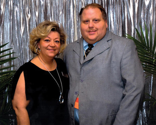 JoAnn Pavlic, president of the Pennsylvania Funeral Directors Association, left, recently honored Paul T. Lochstampfor, owner and operater of Lochstampfor Funeral Home Inc. in Waynesboro, for his dedication and professional service.