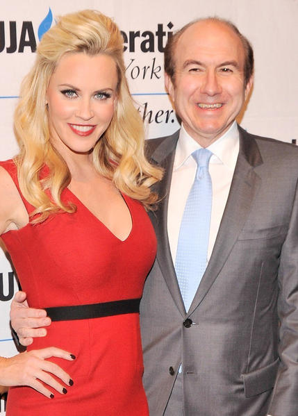 "Putting her comedic skills to the test, McCarthy began hosting ""The Jenny McCarthy Show"" on VH1. It was a pop-culture-based talk show, featuring guests like Nicole ""Snooki"" Polizzi, Lil Jon and Bar Refaeli. In this photo, McCarthy poses with Philippe Dauman, chief executive of Viacom Inc."