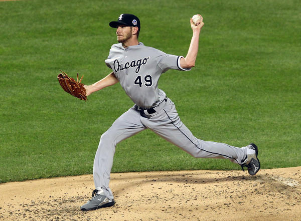 Chris Sale pitches during the All-Star Game on Tuesday. (USA Today Sports Photo)
