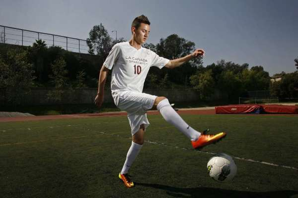ARCHIVE PHOTO: La Cañada High boys' soccer player Armand Bagramyan was named an All-American by Elite Soccer Report