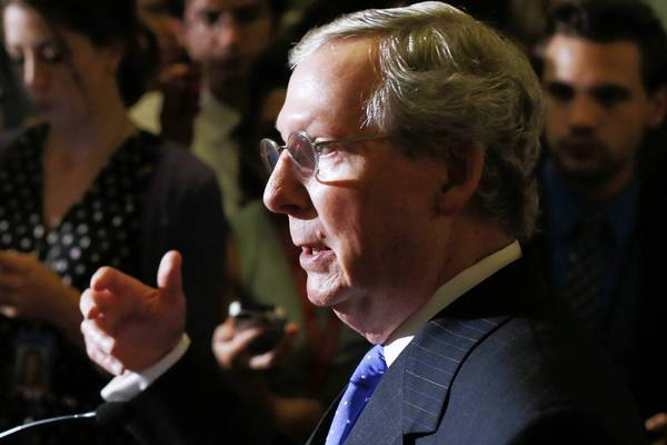 """Put this down as progress in the right direction and the best possible atmosphere to go into the balance of the year when we have much tougher issues to deal with down the road,"" Senate Minority Leader Mitch McConnell (R-Ky.) told reporters after the filibuster agreement."