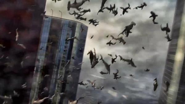 "This could be the scene over Manhattan in ""Sharknado 2,"" coming to Syfy in 2014."