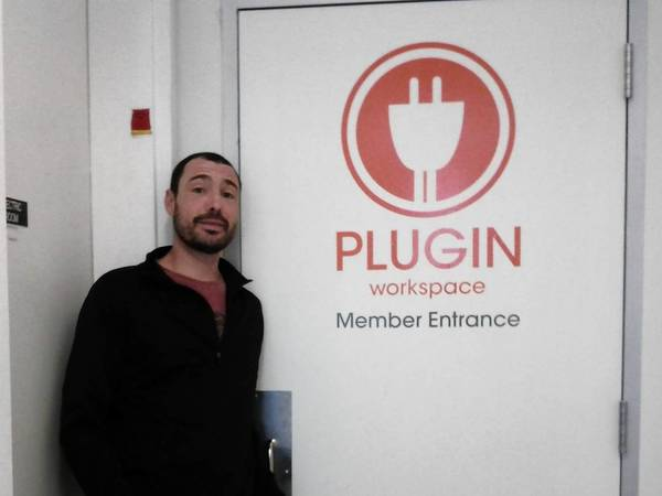 Mark Rosen of PLUGIN Workspace in Highland Park.